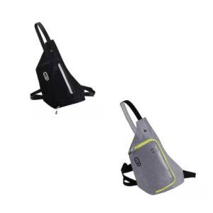 Túi chạy bộ đeo 2 kiểu - Đen-Xám 001