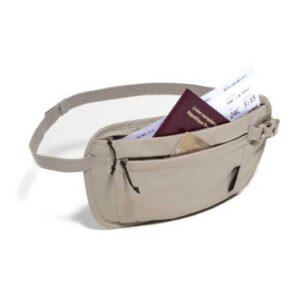 Túi đeo hông du lịch an toàn - Nâu nhạt 010